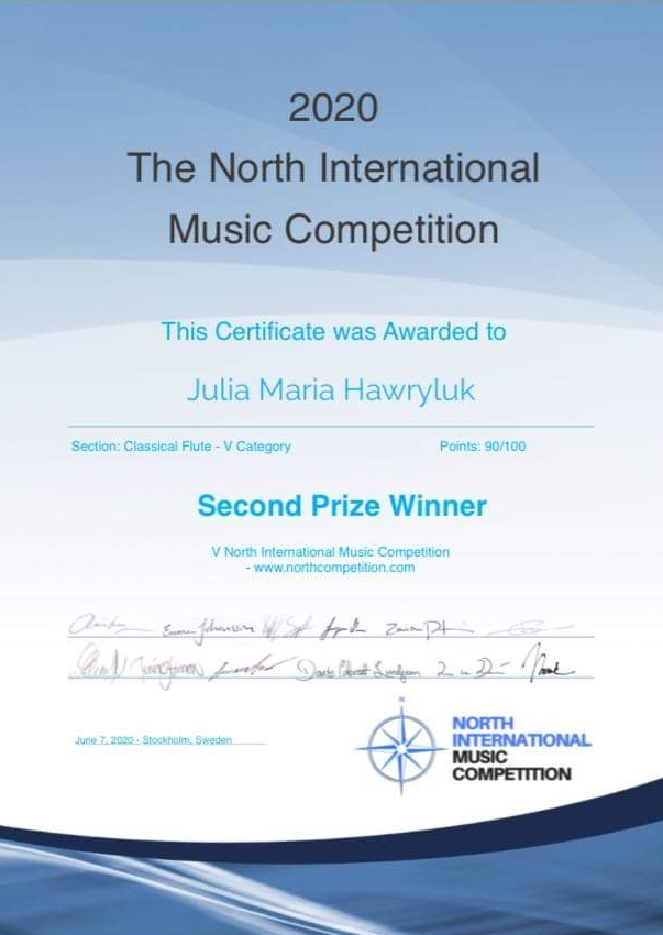 2020 The North International Music Competition